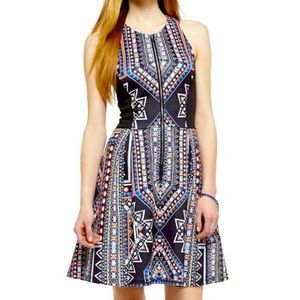 Mossimo fit and flare skater dress abstract print